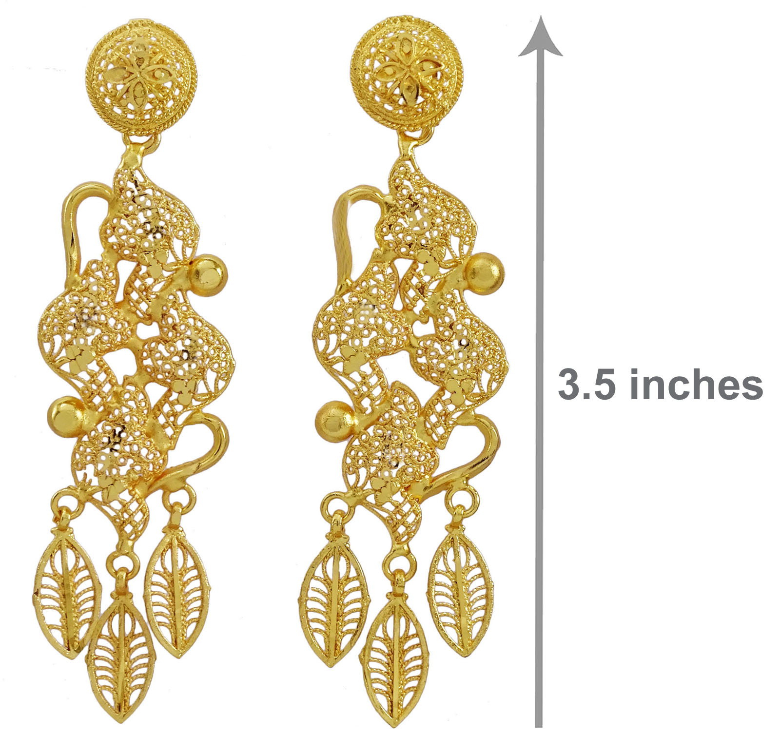 Indian Ethnic Bollywood Gold Tone Earring Set Traditional Jewellery BSE52314A